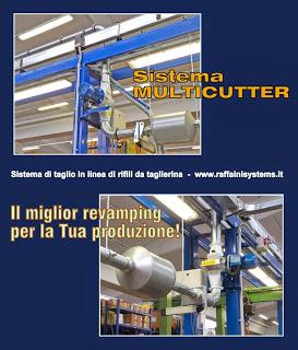 Multicutter, sistema di taglio in linea per sminuzzamento e riduzione volumi dei rifili continui allo scarico.