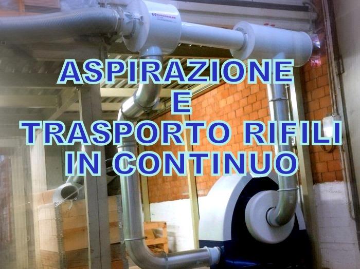 Aspirazione rifili e trasporto con Venturi ad alta efficienza e ventilatore Kongskilde