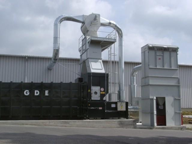 impianto centralizzato trasporto pneumatico rifili di carta da Bobst