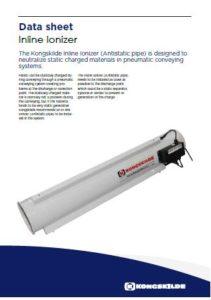 Inline ionizer antistatici per trasporto pneumatico rifili