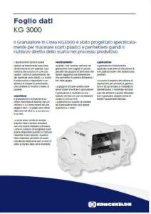 Granulatore in linea per rifili mod. KG3000 PDF