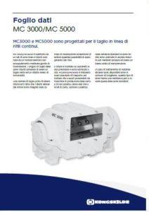Multicutter in linea per rifili mod. MC3000 MC5000 PDF