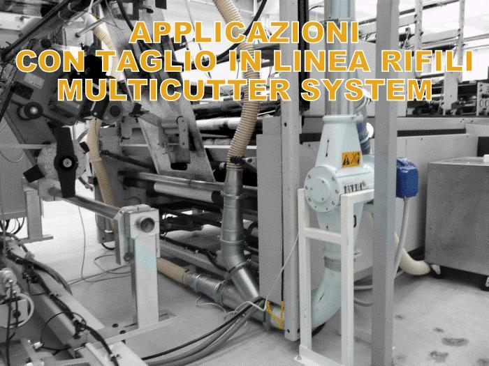 Multicutter STD su impianto di aspirazione rifili