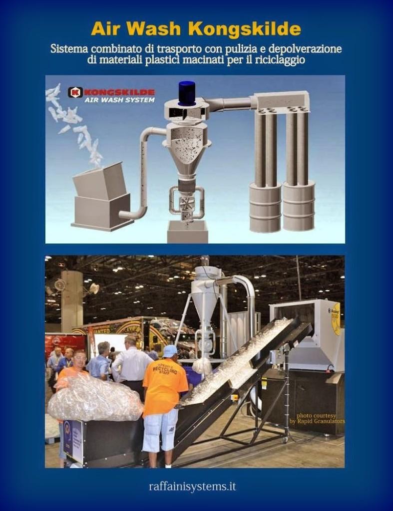Sistema AirWash-Rapid-per depolverazione di macinati.