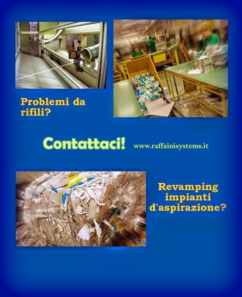 Impianti aspirazione sfridi ritagli carta cartoncino cartotecnica