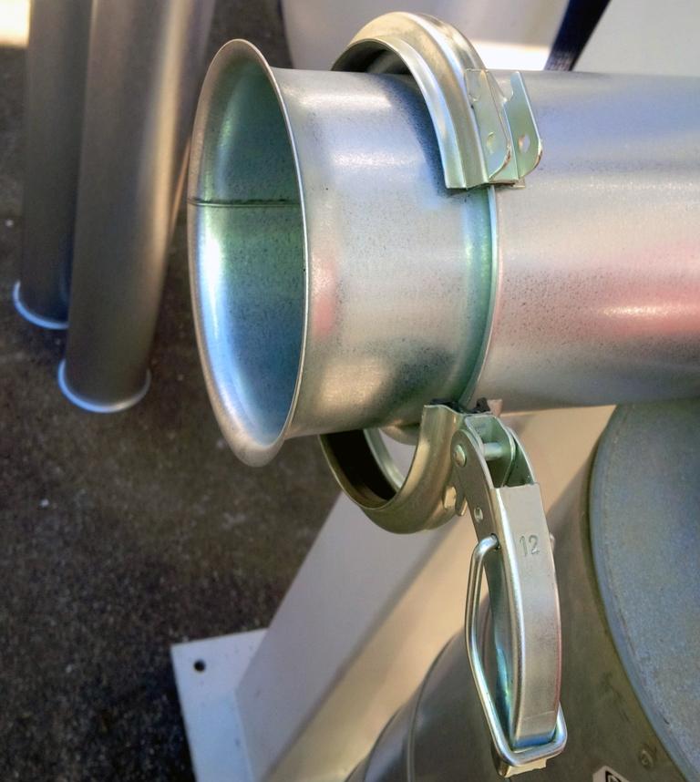 Elemento telescopico con morsetto rapido - serie bordi a cartella FK