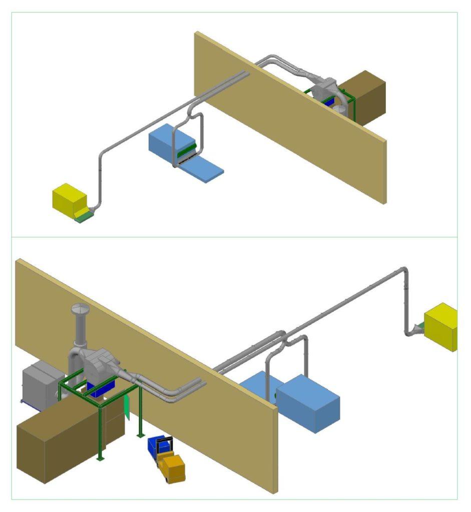 Impianti aspirazione sfridi cartone da fustellatrici rotative