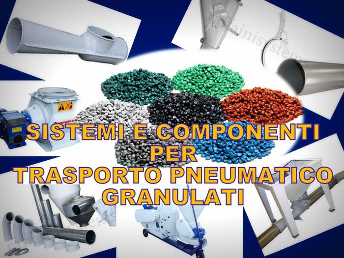 Trasporto pneumatico di granulati e pellet plastica - Componenti, sistemi, impianti.