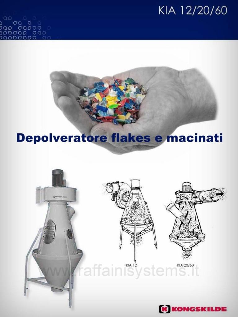 Depolveratori pulitori granuli e scaglie plastica kia-aspirator