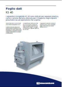 Separatori rotativi per scarico aria-rifili mod. KS-40 PDF