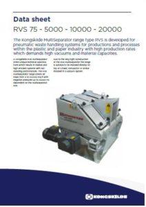 Separatori rotativi per scarico aria-rifili mod. RVS 5000 10000 20000 PDF