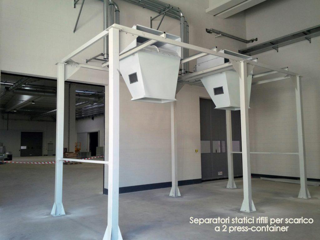 Sepatori di scarico aria-rifili