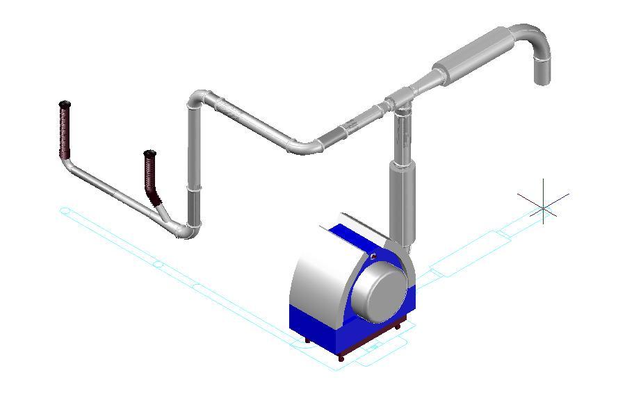 layout aspirarifili con sistema Venturi Kongskilde