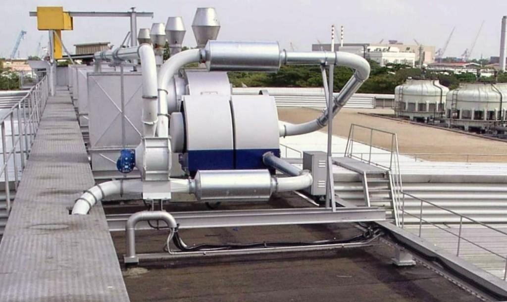 ventilatore e separatore rotativo per rifili