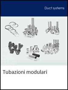 Brochure componenti di tubazione rapida modulare per trasporto pneumatico e ventilazione industriale