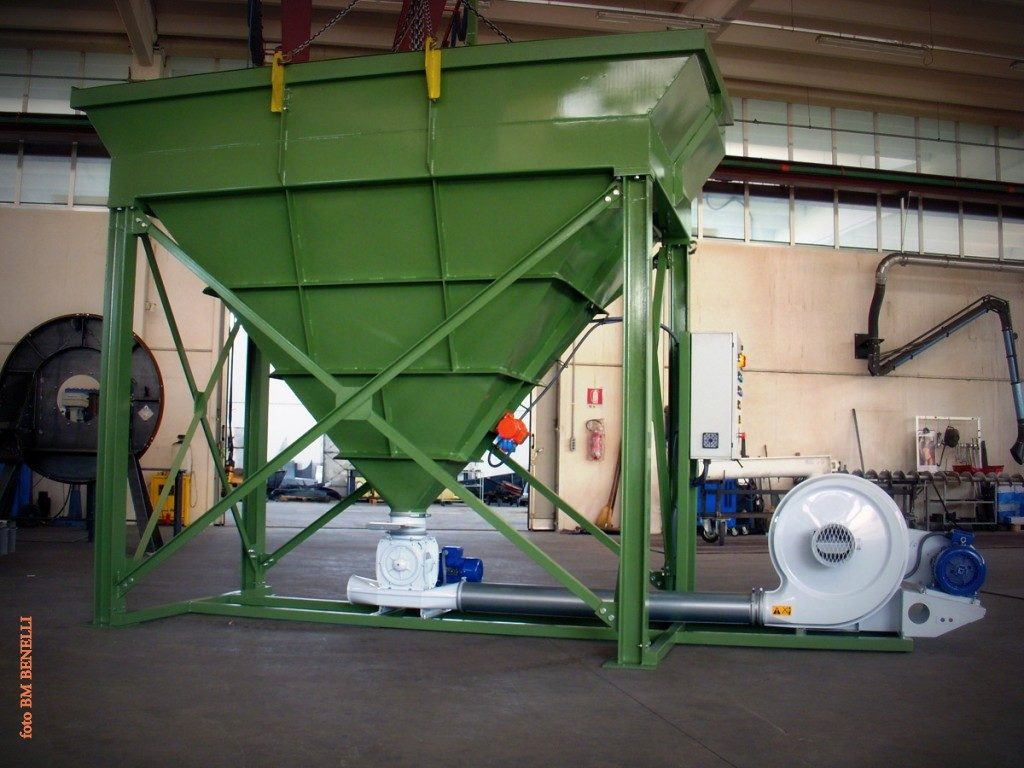 TRL+RV ventilatore con valvola rotativa per lancio granuli