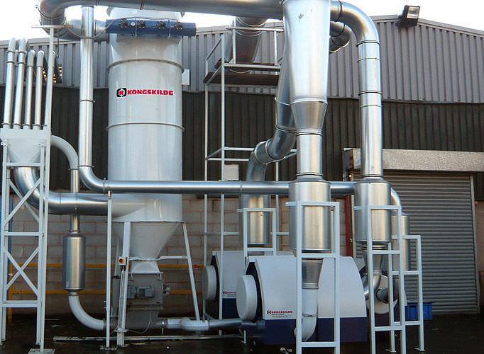 Filtrazione aria trasporto pneumatico rifili e scarti