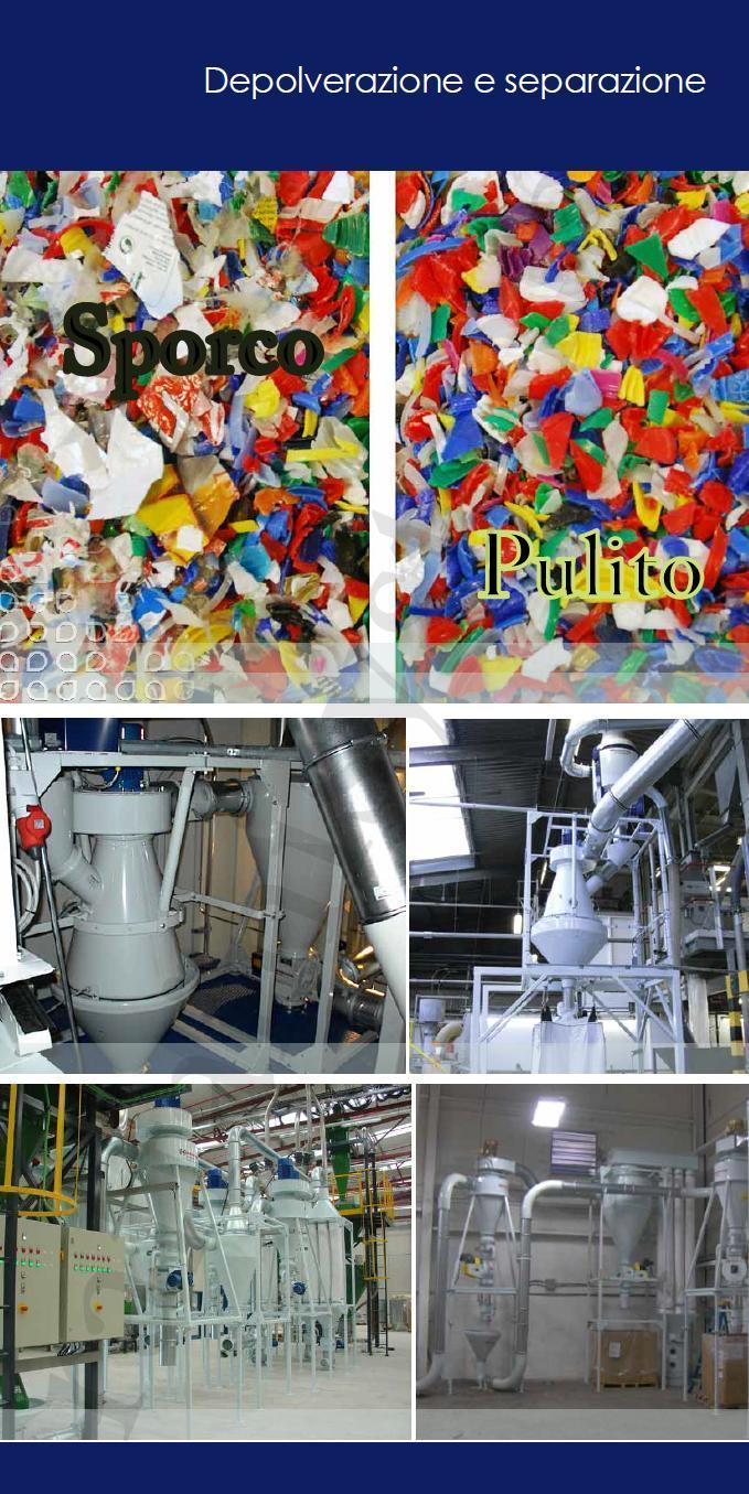 separazione e pulitura materiali con depolveratori Kongskilde