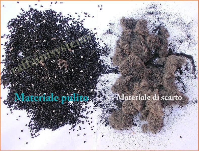 separazione materiale con depolveratore Kongskilde