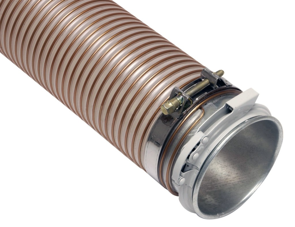 tubo flessibile spiralato in poliuretano OK160 per trasporto pneumatico