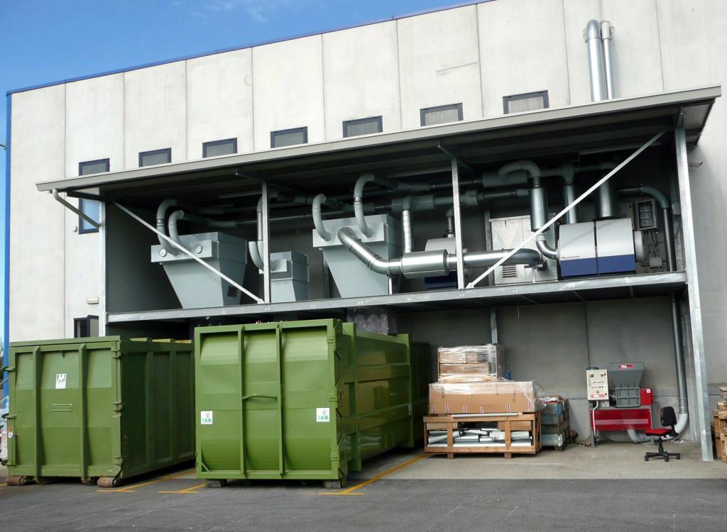 impianto centralizzato trattamento rifili e scarti di produzione