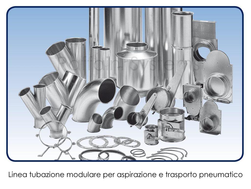 Linea tubazione modulare galvanizzata