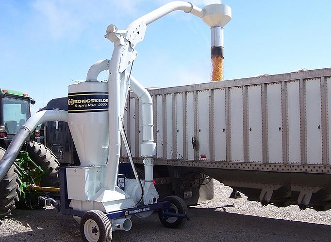 Trasportatore pneumatico cereali e sementi a cardano trattore