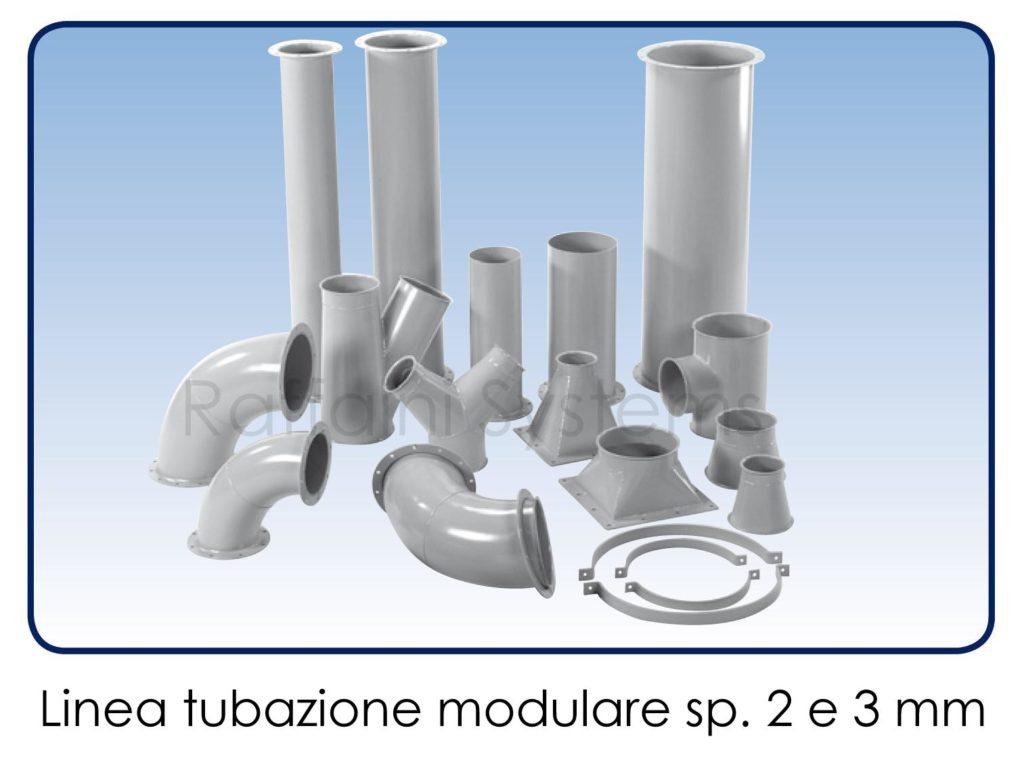 Linea modulare tubi a spessore 2 e 3 mm