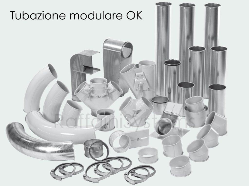 Tubazione OK modulare rapida per trasporto pneumatico
